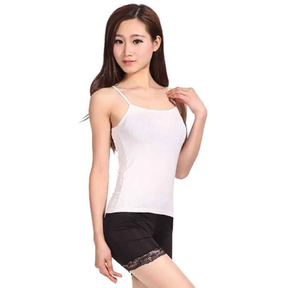 Débardeur haut d'été mince vêtements de Fitness entraînement solide Camisas Mujer Spaghetti sangle gilet vêtements femmes