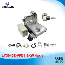 3D CNC router 3040 milling machine with 1500w spindle, assembled well cnc machine 110v 220v