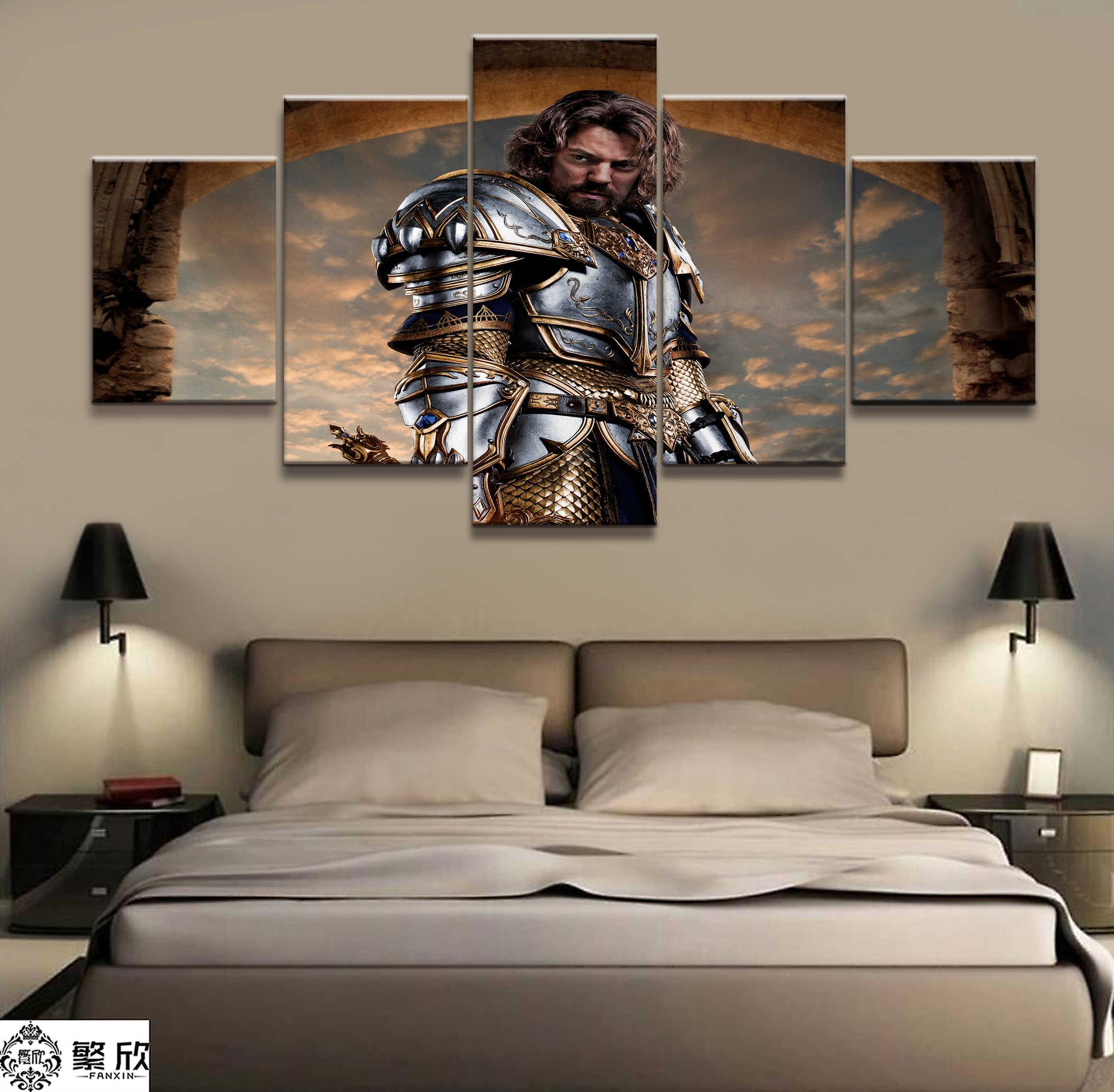 Peça 5 Video Game WOW Warcraft DOTA 2 Cartaz Pintura Decorativa Mural Art pintura Da Lona Da Parede Da Sala Decor atacado