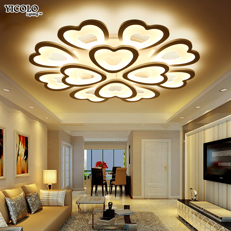 Remote control led ceiling light with Ultra-thin Acrylic ceiling lamp for living room bed room Luminaire Living Room Lights modern led chandelier light fixture for living room bed room kitchen led ceiling lamp plafon acrylic luminaire 5cm ultra thin