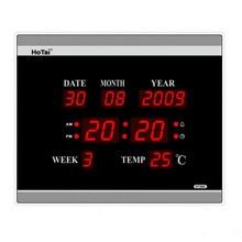 Grande LED digitale orologio da parete EU plug power di cristallo calendario elettronico sveglia desktop despertador klok