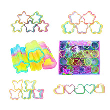 Childrens Educational Toys Colorful Antistress Rainbow Circle Folding Plastic Spring Coil Fashion