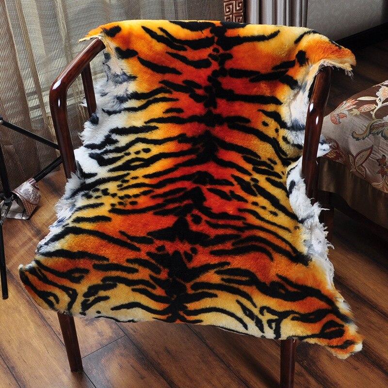 Sheepskin rug  tiger  (1)