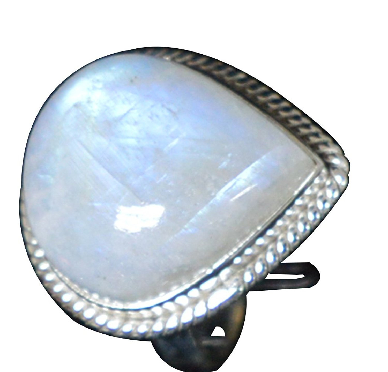 73389a371c65 Lovegem naturaleza Arco Iris piedra lunar anillo 925 Plata de ley, tamaño:  7,75, AR2979