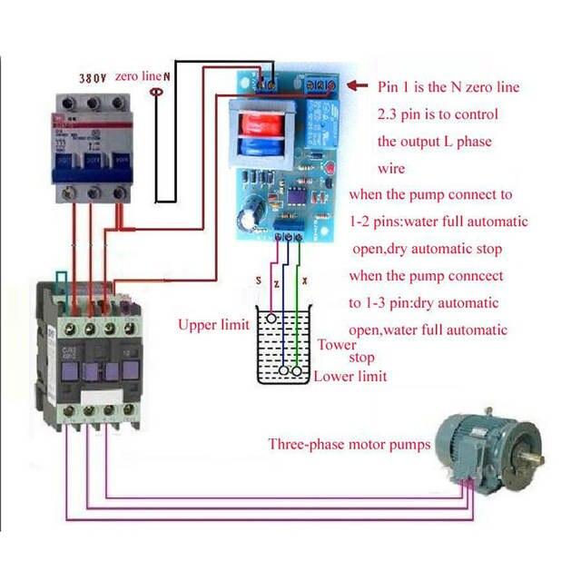 AIYIMA 220V Liquid Level Controller Module Water Level Detection Sensor