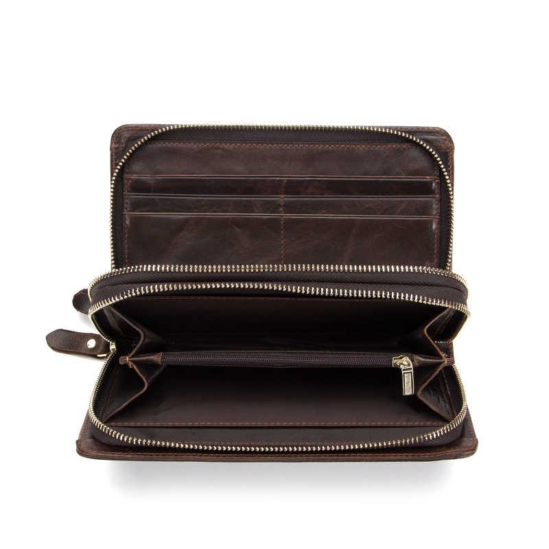 9db0a2462c44 ... WESTAL вместительный клатч сумка мужской кошелек мужской натуральная  кожа телефон бумажник кошелек мужской длинный подарок мужчине ...
