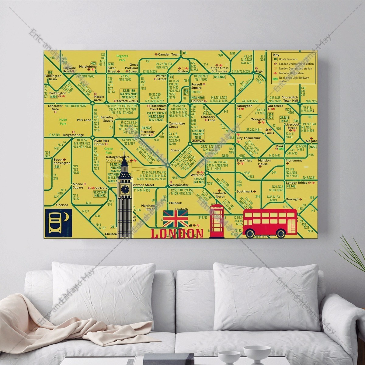 online get cheap city canvas art aliexpress com alibaba group london city travel map canvas art print painting poster wall picture for living room home decorative