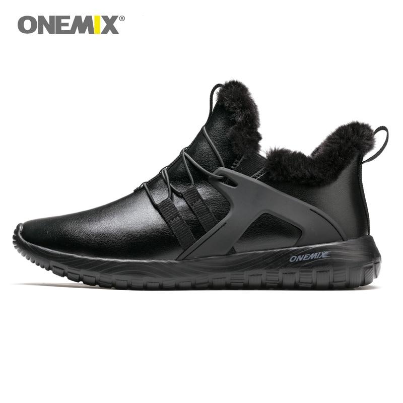 ONEMIX autunno inverno scarpe per gli uomini scarpe da ginnastica per le donne da jogging all'aperto della scarpa da tennis scarpe di cuoio suola morbida per passeggiate all'aria aperta