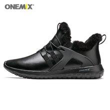 ONEMIX/осенне-зимняя обувь для мужчин, кроссовки для женщин, уличные кроссовки для бега, мягкая подошва, кожаная обувь для прогулок