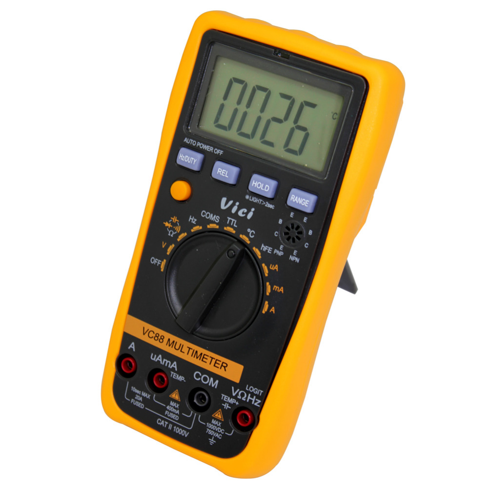 VICI VC88 3 3/4 AutoRange Digital Multimeter DMM w/ Logic Test F T R C DC AC V/ A мультиметр multimeter 5818 ac dc w