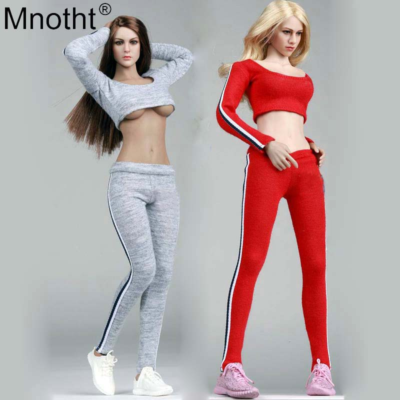 Mnotht 1/6 Scale Female Soldier Sportswear Fitness Wear Casual Clothes Suit Fit For 12in Action Figure Verycool HT PH Body Model mnotht toys 1 6 vivian hsu head sculpt female asian beauty head carving model fit for 12in ph ht female soldier body m3