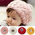 2016 Nova Moda Bebê Hat Newborn Fotografia Props Bebê Outono Inverno Caps Moda Crochet Caps para 4 meses-3 anos Crianças