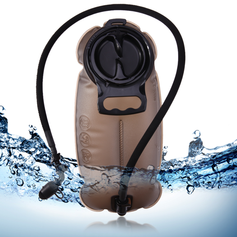 1.5L 2L 2.5L TPU Hydration System Outdoor Water Bag Camping Hiking Cycling Water Bladder Bag Foldable Water Pack gray