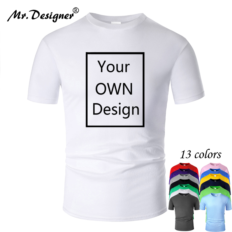 ICICLE Your OWN Design Logo/Picture Custom Men women DIY Cotton T shirt Short sleeve