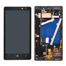 Для Nokia Lumia 930 ЖК-Дисплей с Сенсорным Экраном Дигитайзер Ассамблеи С рамкой Свободная Перевозка Груза