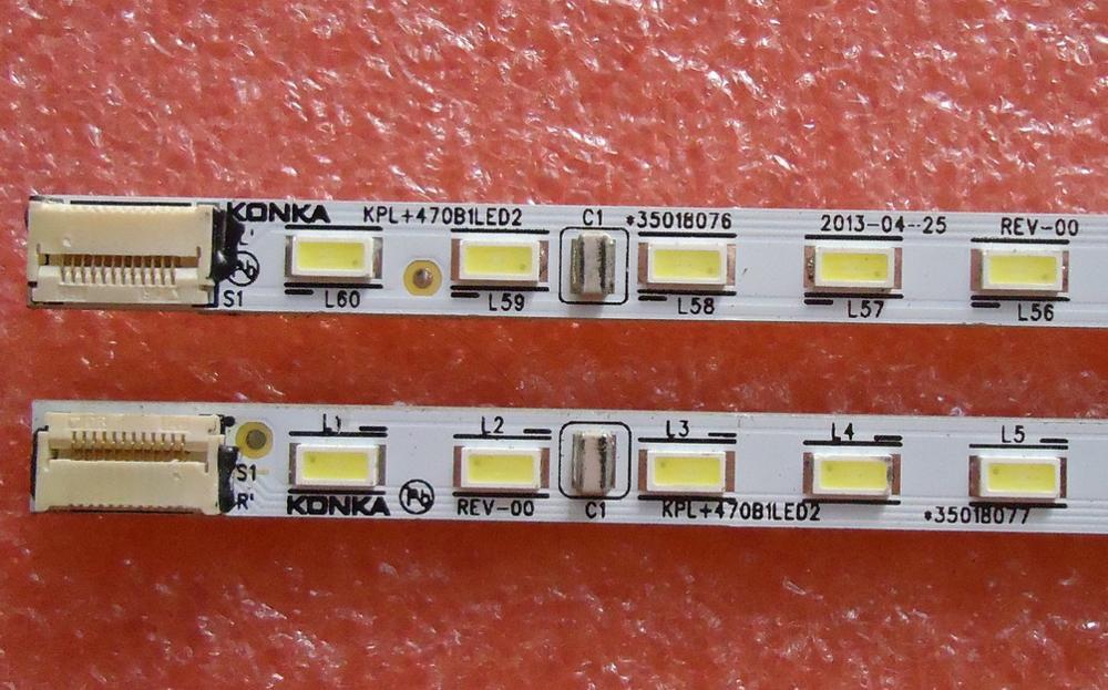 FOR Konka LED47R5500PDF Article Lamp KPL+470B1LED2 35018076 35018077 1piece=60LED 525MM
