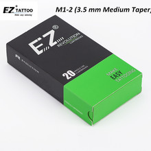 EZ Revolution Cartridge Tattoo Needles #12 (0.35 mm) Medium Taper 3.5 mm Tattoo Needles for cartridge Tattoo Machine Grips 20 pc недорого