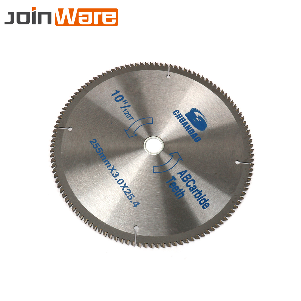 10inch Wood Circular Saw Blade Carbide Wood Blade Cutting Disc Power Tool for Cutting Wood Aluminum 40T/60T/80T/100T/120T 10