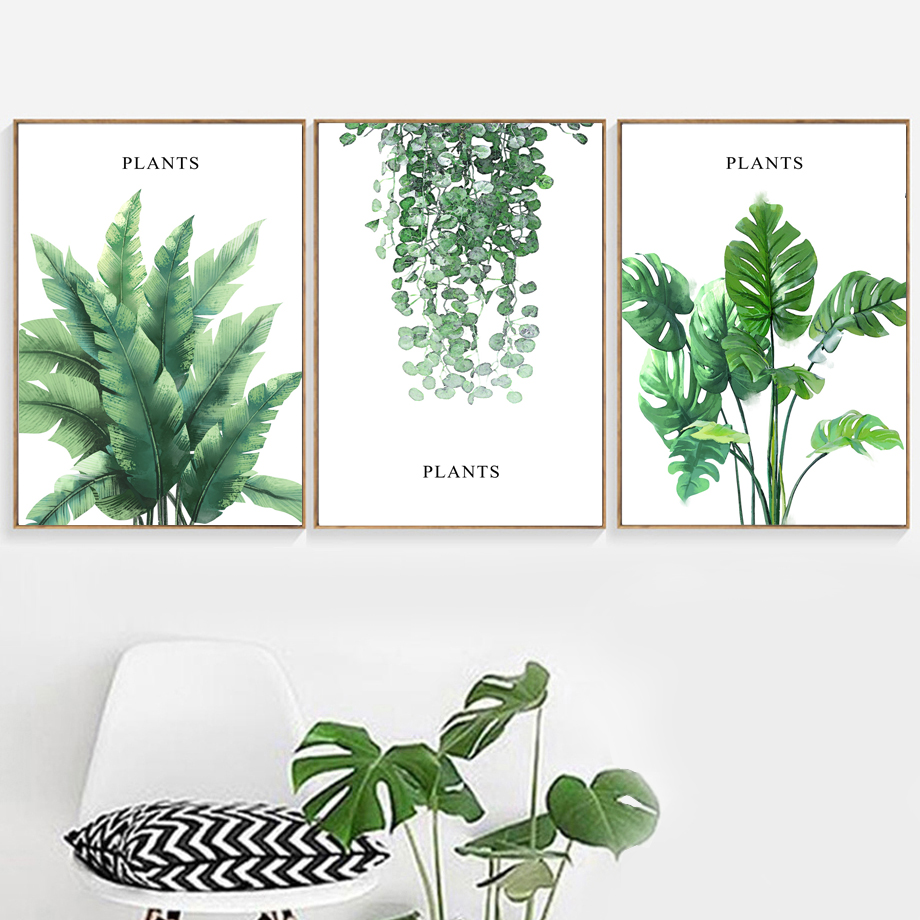 Aliexpress Buy Tropical Banana Leaf Monstera Ivy