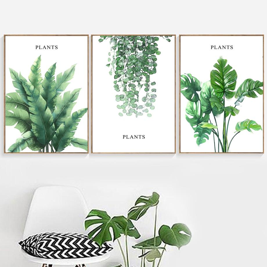 Aliexpress Buy Tropical Banana Leaf Monstera Ivy