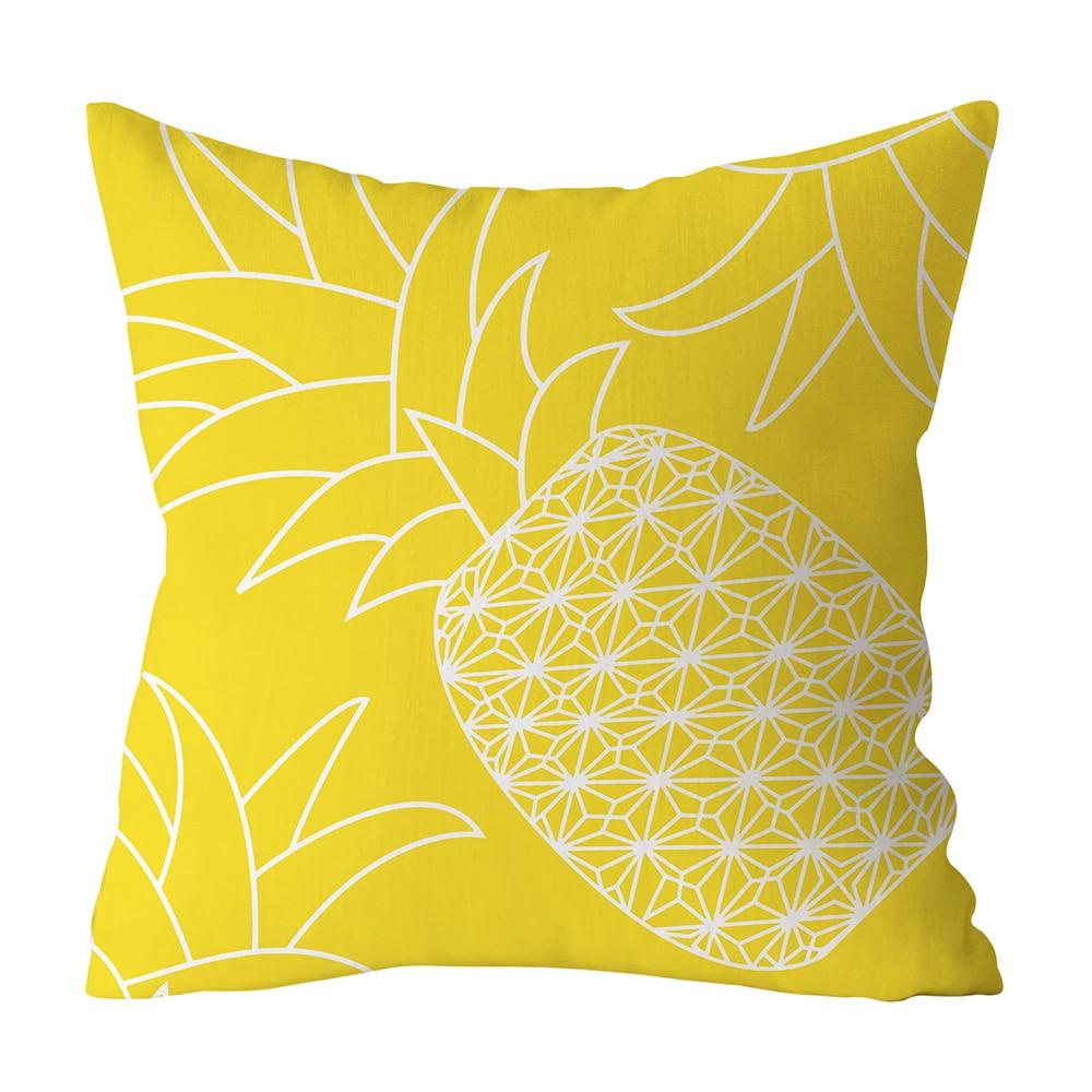 HTB1i3jwXBSD3KVjSZFqq6A4bpXaG Polyester Geometric Cushion Yellow Pineapple Pillow Decorative Cushion for Sofa DIY Printed Pillow Seat Chair Cushion