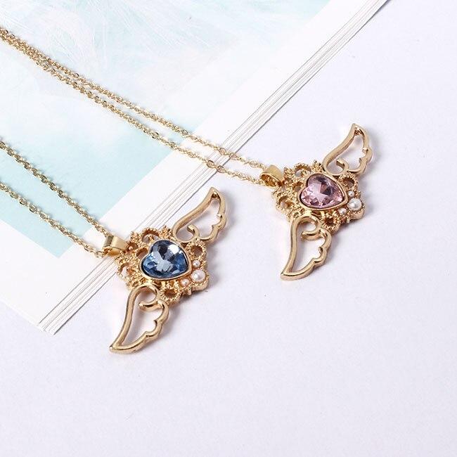 Kawaii Sailor Moon Crystal Heart & Wings Necklace 2