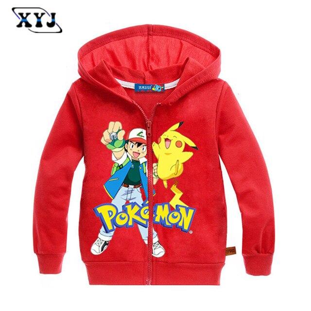 2017 Primavera Giacca Per I Ragazzi Pokemon Sweatshit Per Ragazze Bambini  Cerniera Felpa Giacca Bambini Ragazzo 467aa1fb51d
