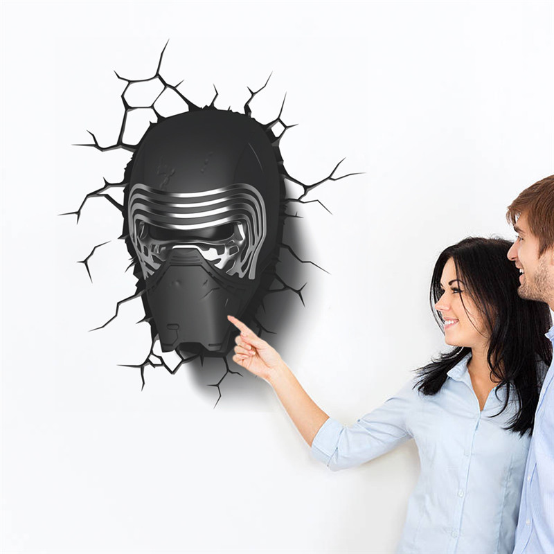 12f83b77719a9f star war Dark Knight helmet wall stickers for boy child toy home decal boys  bedroom decor poster for kids room creative design
