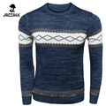 Sweater Male 2016 Men'S Cultivate One'S Morality O-Neck  Leisure Men'S Clothing Sweaters Pullover Navy Pull Homme XXL DHFEW