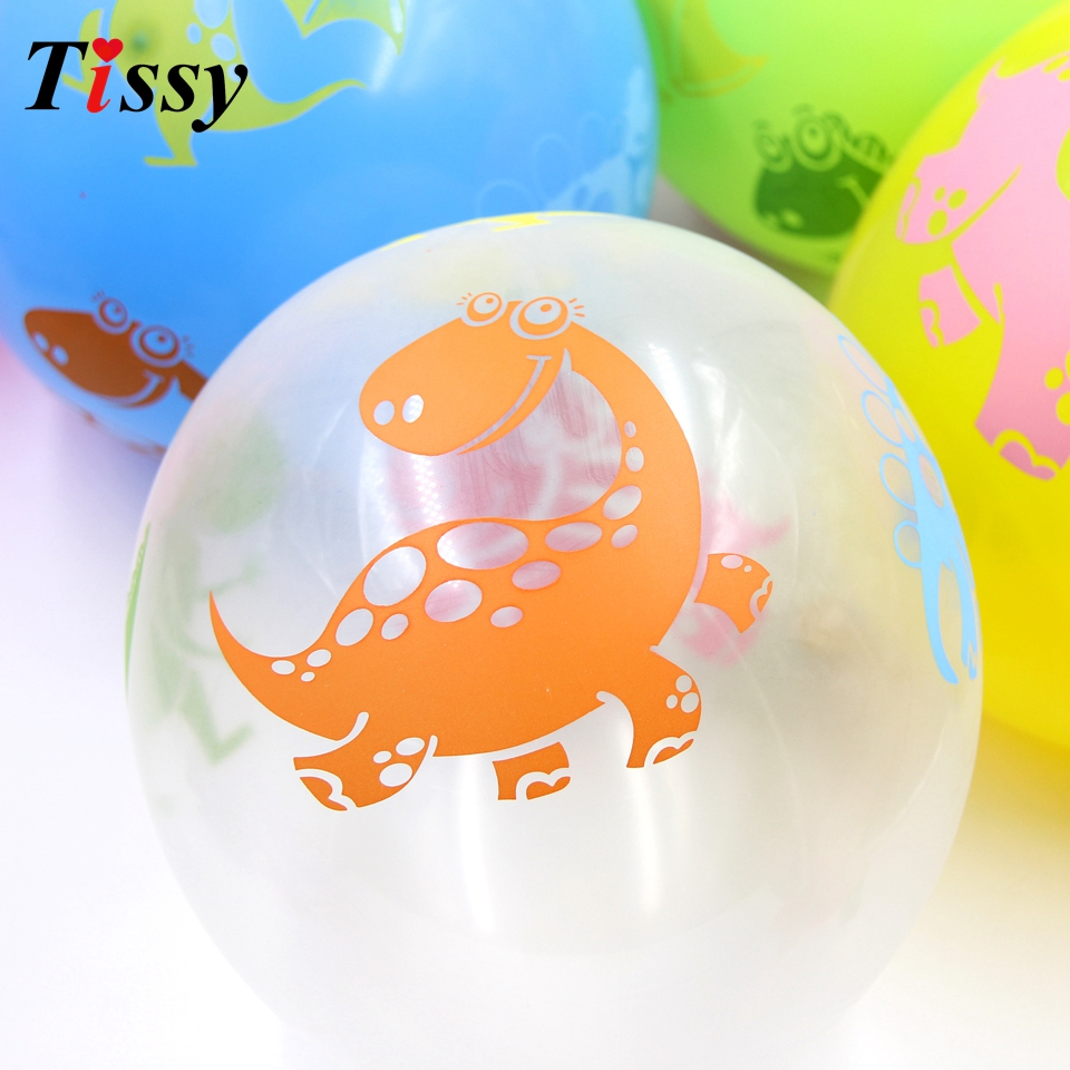 20PCS Lot 12inch Dinosaur Balloons Latex Balloons Party Favors Baby Shower Decorations Birthday Party Supplies Kid Toys Gifts in Ballons Accessories from Home Garden