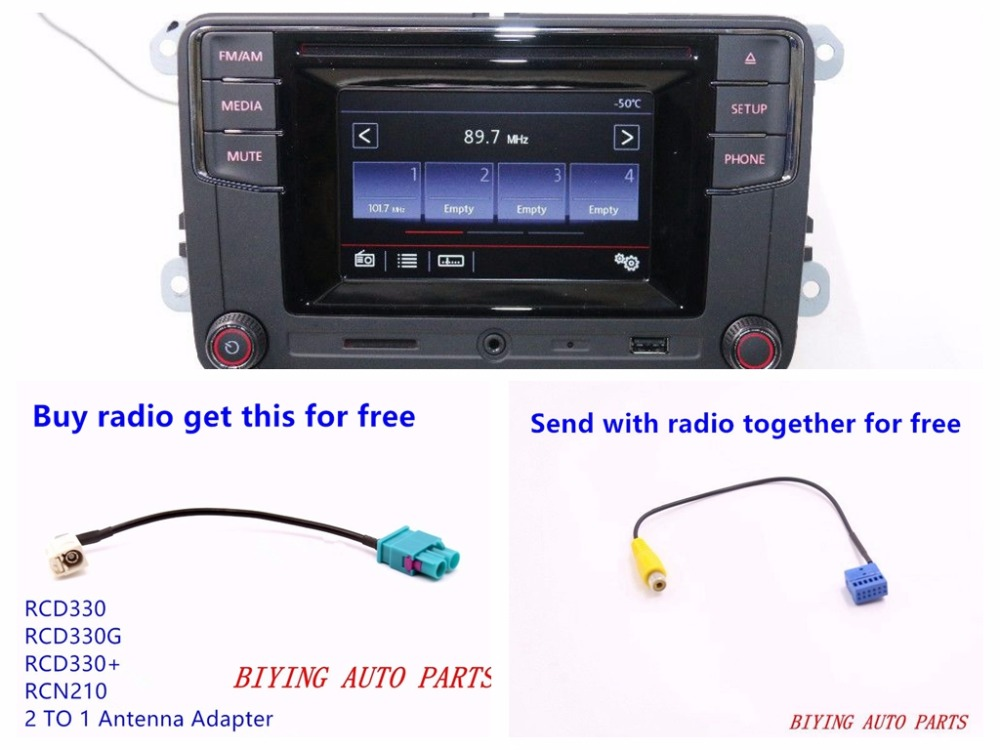 RCD330 RCD510 RCD330G RCN210 CD Player MIB Car BluetoothUSB MP3 Radio New High Version For <font><b>Golf</b></font> <font><b>5</b></font> 6 Jetta CC Tiguan Passat CC