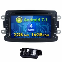 7inch Android 7 1 Car DVD Player For Dacia Sandero Duster Renault Captur Lada Xray 2