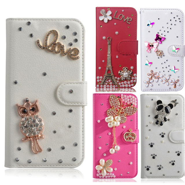 huge selection of 3b26e 19748 US $6.97 8% OFF|Elegant Rose Rabbit DIY Unique&Cute PU Leather Phone Case  For Samsung galaxy S6 S7 S8,Crystal Diamond Wallet Stand Flip Cover-in ...