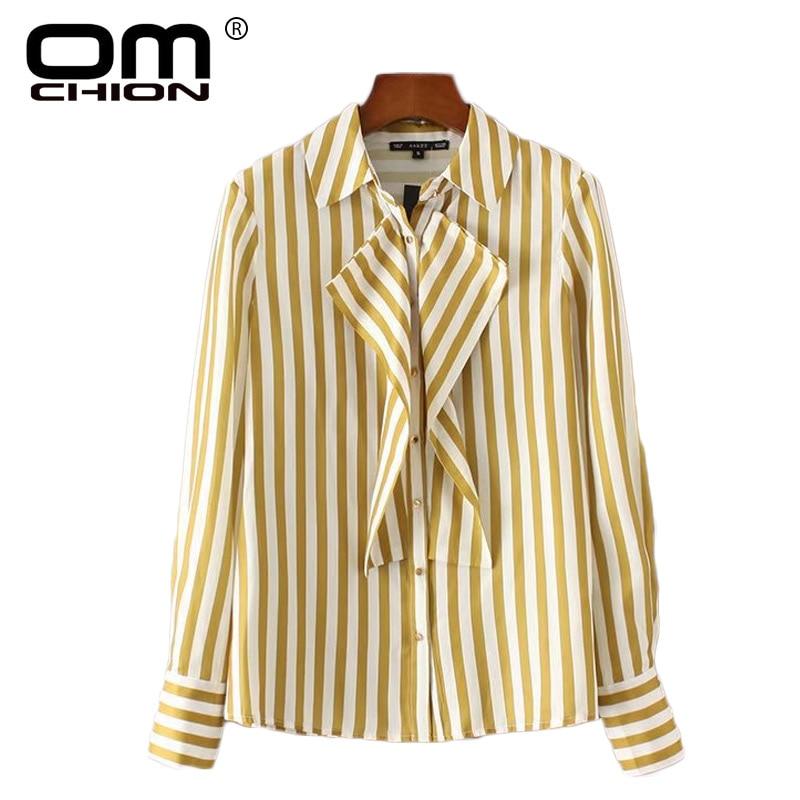 Omchion 2017 new spring autumn women shirt long sleeve for Womens yellow long sleeve shirt
