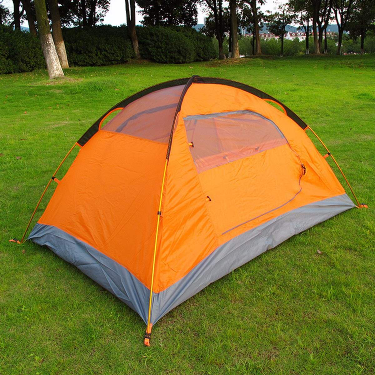 1set Outdoor Tourist double layer 4 season aluminum rod windproof waterproof professional camping tent high quality outdoor 2 person camping tent double layer aluminum rod ultralight tent with snow skirt oneroad windsnow 2 plus