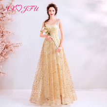 760e92ea85 AXJFU księżniczka champagne koronka suknia luksusowe vintage v neck  świecący indyka bez rękawów plaża suknia 1860