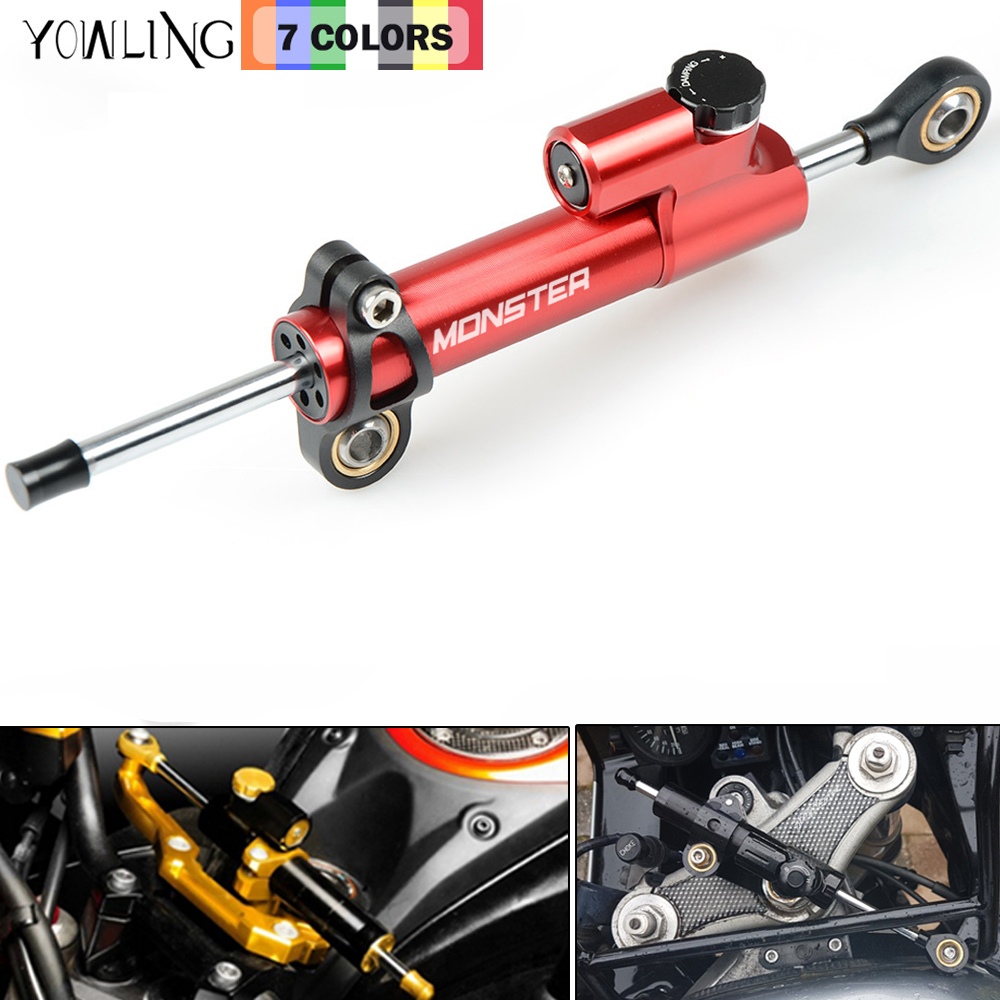 CNC Aluminum Motorcycle Steering Damper Stabilizer Linear Safe Control for Ducati MONSTER 400 620 695 696 796 795 821 1100 1200 motorcycle rear side view mirrors a pair brand new high quality for ducati monster 695 696 796 black