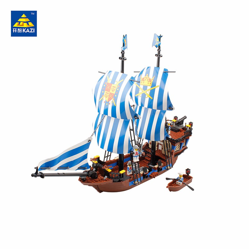 2017 608 Pcs KAZI 87011 Pirates Armada Flagship Building Blocks Sets Education Toys For Children Birthday Gifts Compatible LEPIN lepin 02012 city deepwater exploration vessel 60095 building blocks policeman toys children compatible with lego gift kid sets