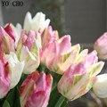 Йо Чо Высокое качество 3D печать тюльпана большой искусственный цветок реальное касание свадьбы букет поддельных цветов для дома  свадьбы  в...