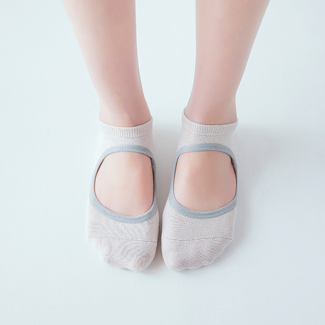 Women's Pastel Color Anti-Slip Yoga Socks