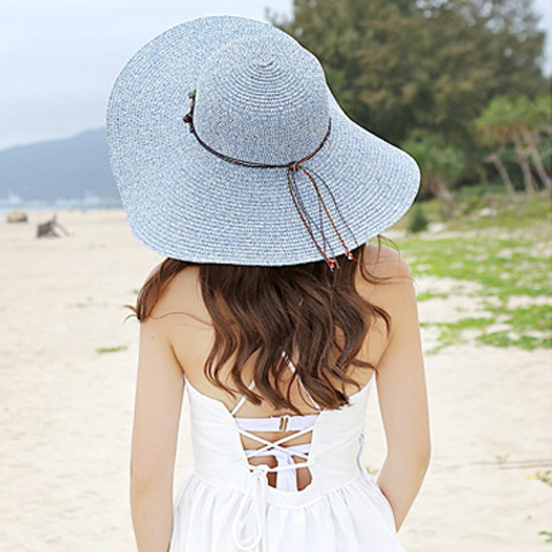 Summer Hats For Women Part - 27: Aliexpress.com : Buy 2017 New Fashion Beach Hats For Women Sun Hats Summer  Big Brim Hat Woman Floppy Straw Hat Solid Outdoor Seaside Sombreros 1849  From ...