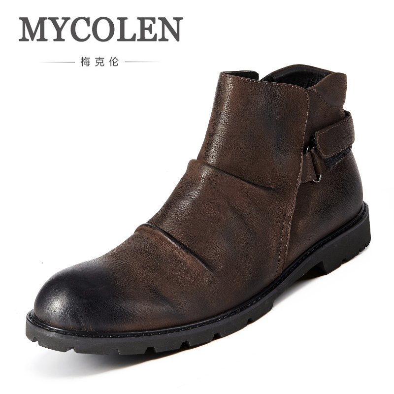 MYCOLEN Men Boots Genuine Suede Comfort Leather Sewing Minimalist Design Black Thread Men Ankle Boots Leather Male Shoes Adult клей kores 20g 4шт 130249