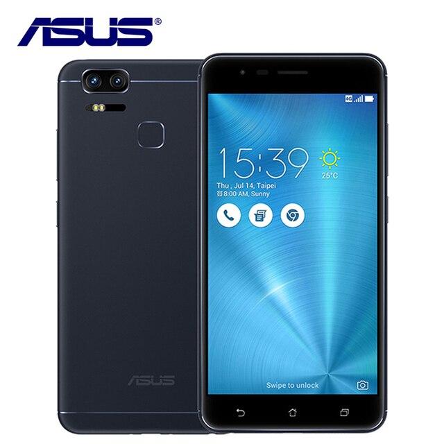 """Оригинальный ASUS Zenfone 3 Увеличить ZE553KL Мобильный Телефон Qualcomm Dual sim 3 Камеры 4 ГБ RAM 128 ГБ ROM 5000 мАч Android Отпечатков Пальцев 5.5"""""""