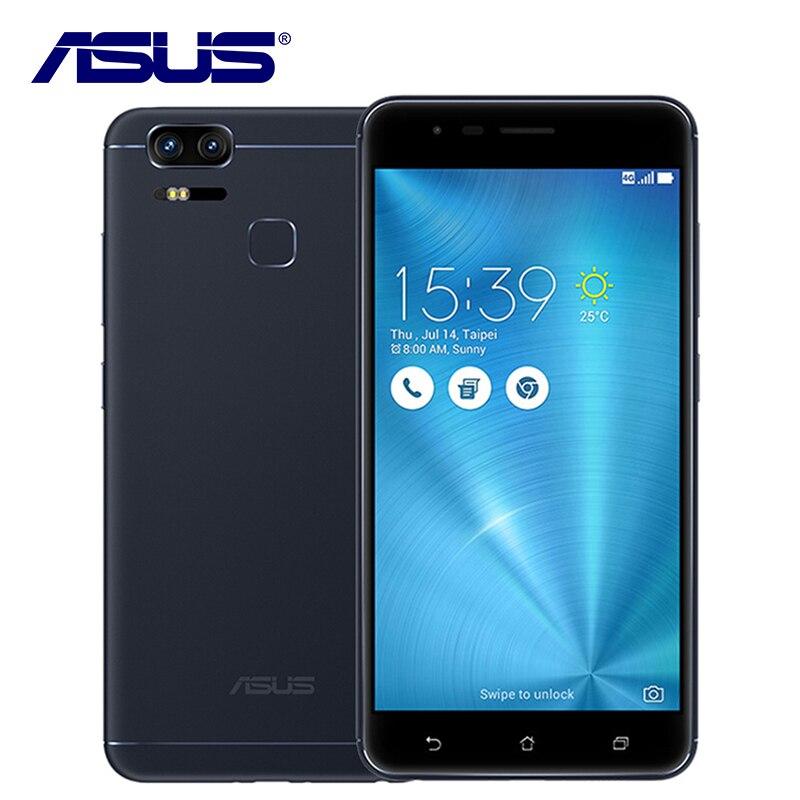 Originale ASUS Zenfone 3 Zoom ZE553KL Telefono Mobile Qualcomm Dual sim 3 della Macchina Fotografica 4 GB di RAM 128 GB ROM 5000 mAh Android Fingerprint 5.5