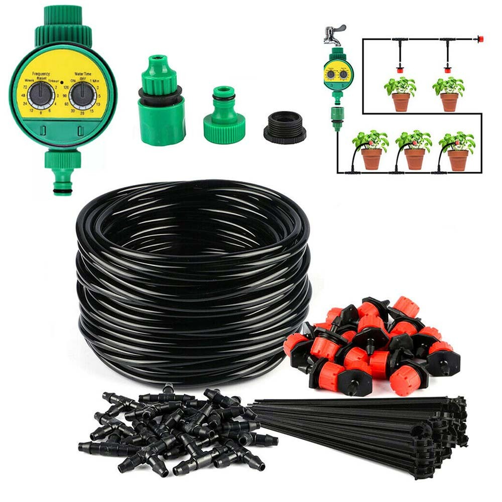 Watering-Irrigation-System-Kit Garden-Hose Digital-Timer Automatic For Plants