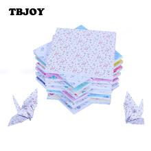 100pcs/Set 15*15 Cm DIY Square Floral Flower Scrapbooking Pads Paper Origami Art Background Paper Card Making Decor Models Toys(China)