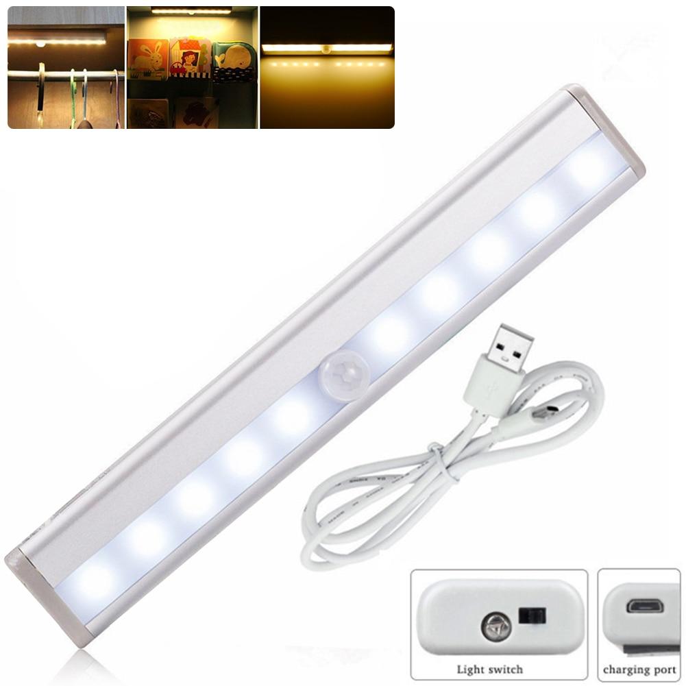 Super bright led under cabinet lighting - Cool Warm White Color Wireless Pir Motion Sensor Lamp Super Bright 10 Led Battery