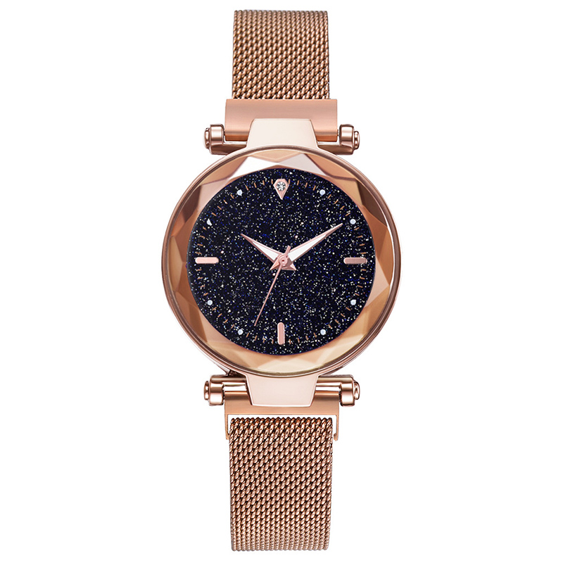 Luxury Women's Magnetic Watches Ladies Prism Surface Starry Sky Clock Fashion Bracelet Quartz Wristwatches Relogio Feminino Gift