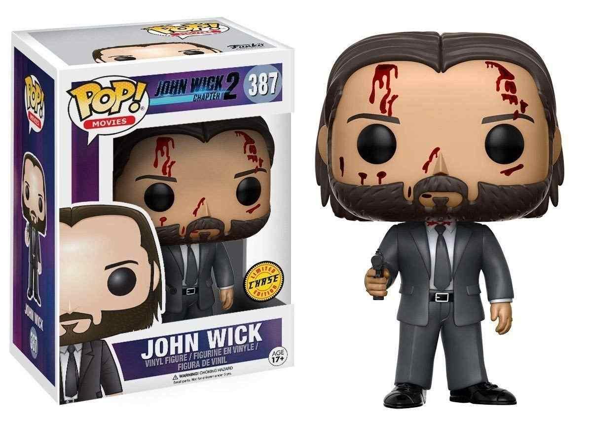 Funko pop John Wick Sangrenta 10 cm Vinil Dolls Action Figure Coleção Brinquedos Modelo com Caixa