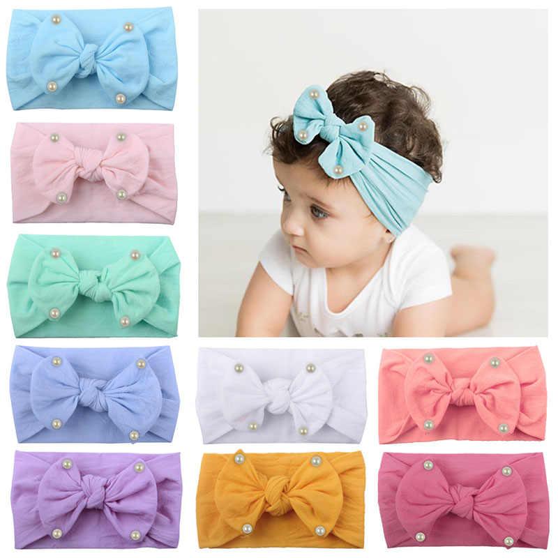 Schöne Baby Stirnband Turban Blume Neugeborenen Baby Mädchen Stirnbänder Elastische Kinder Kleinkind Haar Band haarband Baby Haar Zubehör